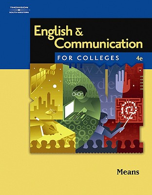 English & Communication for Colleges By Means, Thomas L./ Langlois, Elaine (CON)